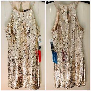 🎉HP🎉PromGirl Simply Dresses Halter Sequin Dress